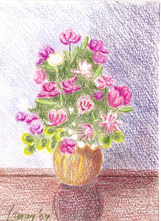 Bouquet of silk flowers drawing by rod ismay flowers drawing bouquet of silk flowers by rod ismay mightylinksfo