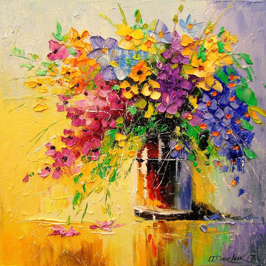Bouquet of wild flowers painting by olha darchuk bouquet painting bouquet of wild flowers by olha darchuk izmirmasajfo