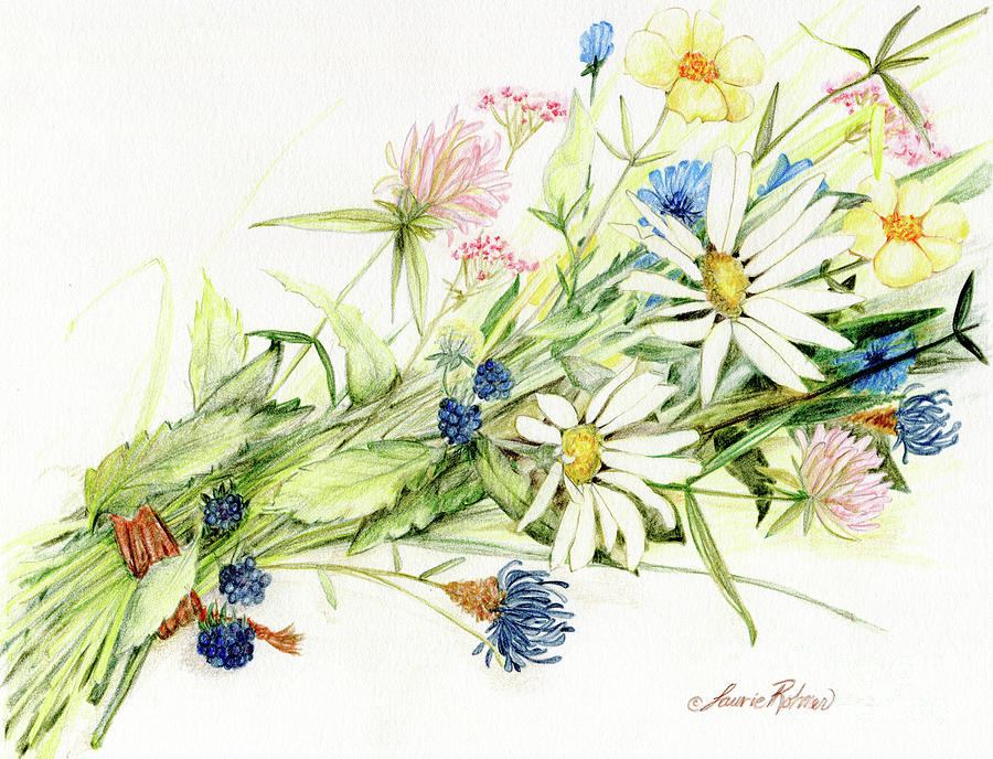 Bouquet of Wildflowers by Laurie Rohner