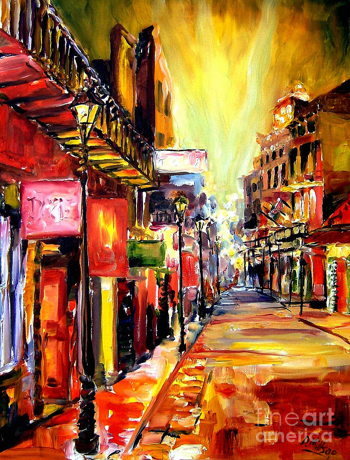 New Orleans Painting - Bourbon Street Dazzle by Diane Millsap