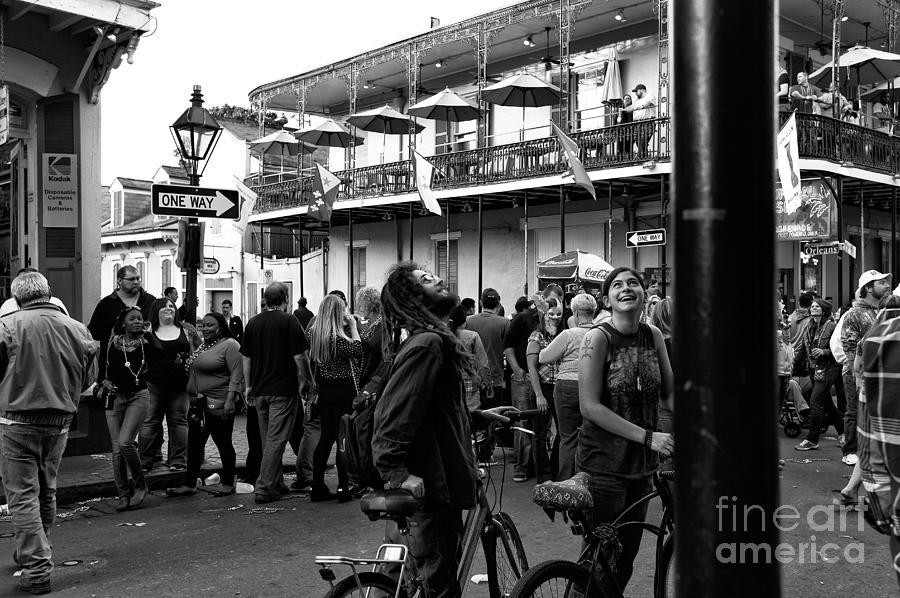 Boy Photograph - Bourbon Street Fun Mono by John Rizzuto