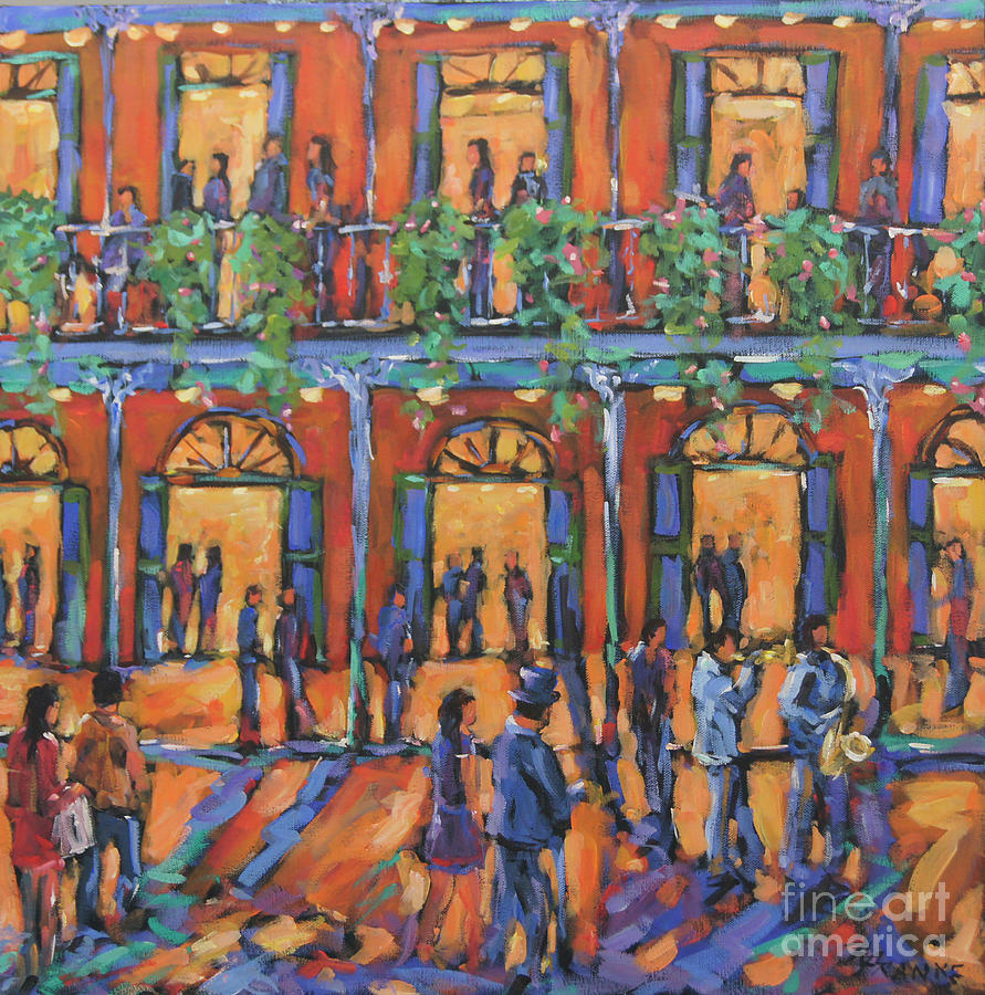Bourbon Street Nola New Orleans Jazz by Richard T Pranke