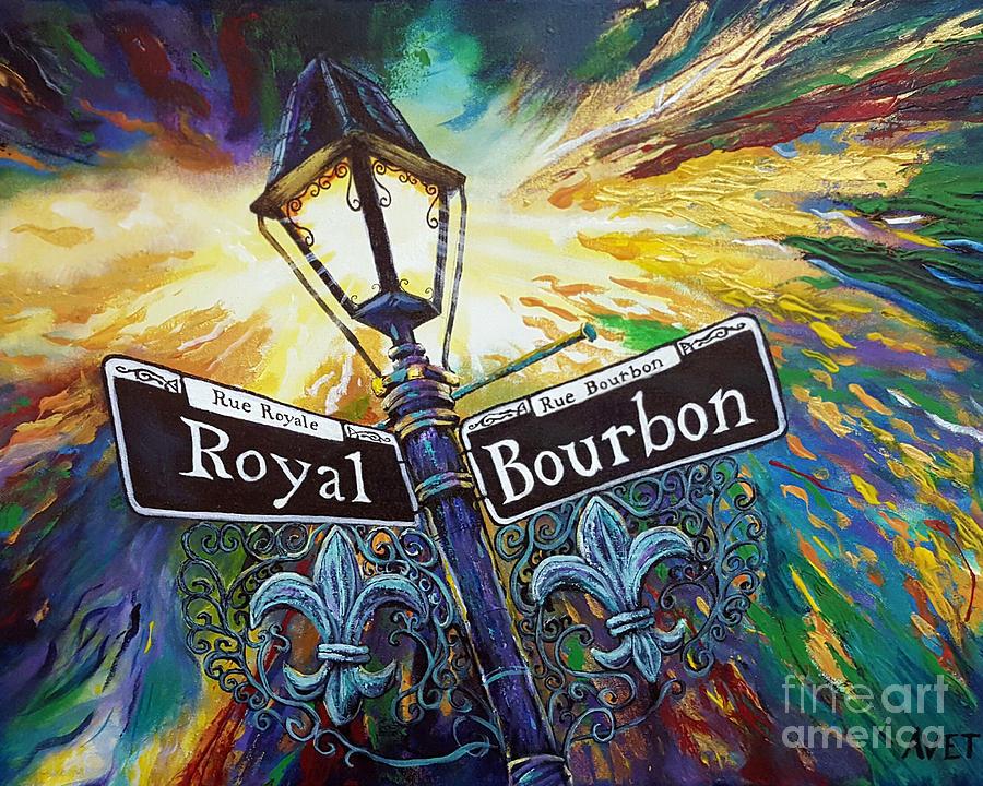 bourbon street sign painting by nicolas avet