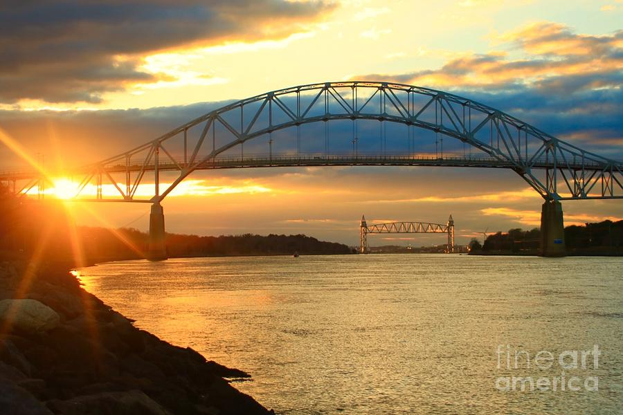 Bourne Bridge Sunset by Amazing Jules