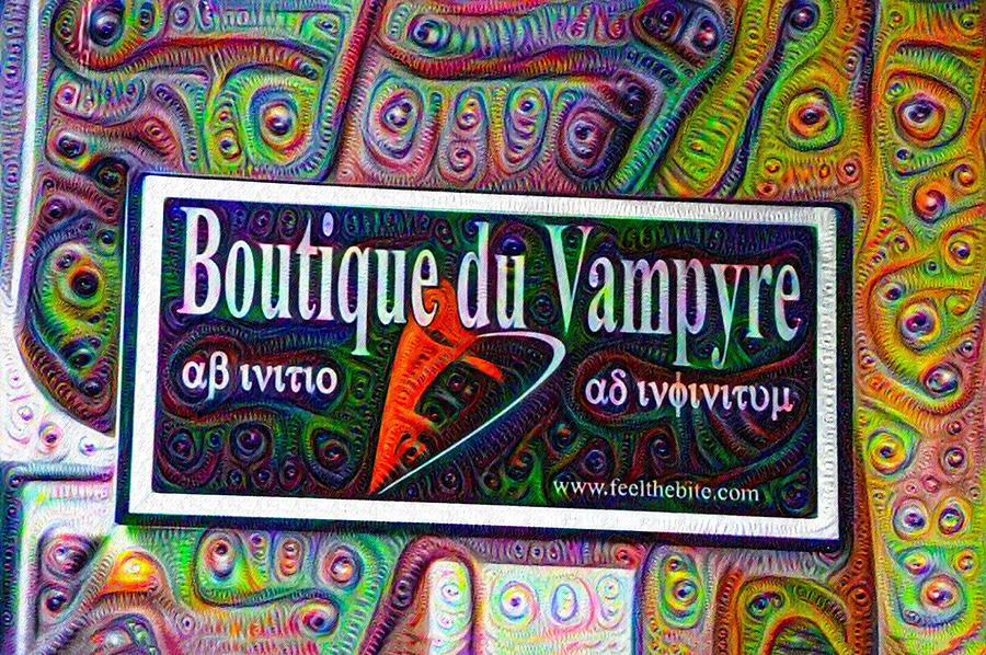Corner Painting - Boutique Du Vampyre -  New Orleans by Bill Cannon