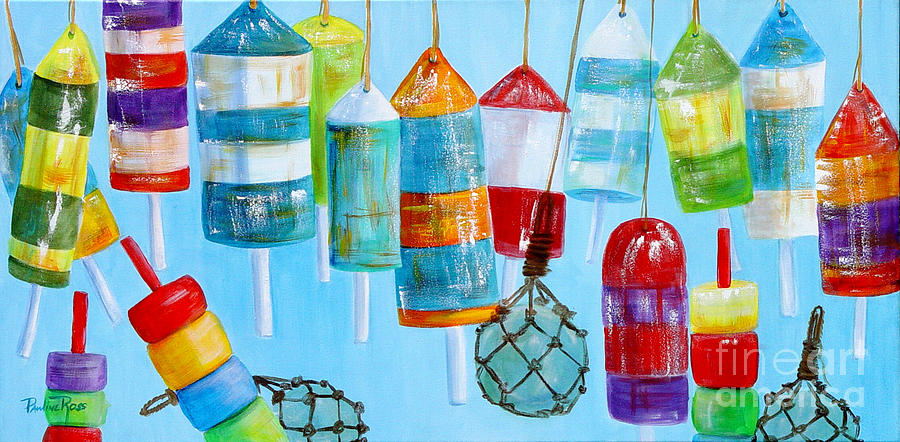 Glass Bouys Painting - Bouys IIi by Pauline Ross