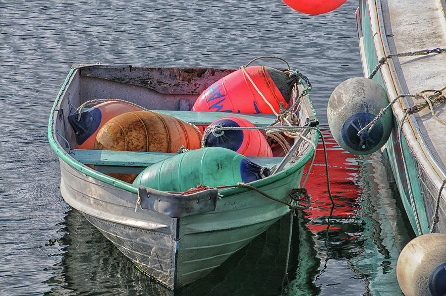 Seascape Photograph - Bouys In A Boat by Mike Martin