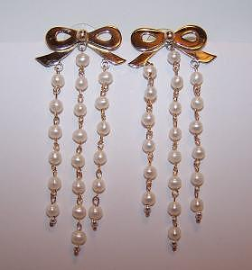 Bow And Pearl Earrings Jewelry by Kimberly Stephenson