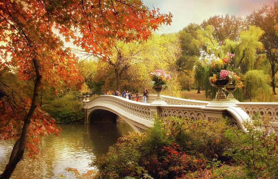 Bow Bridge Autumn Crossing Photograph
