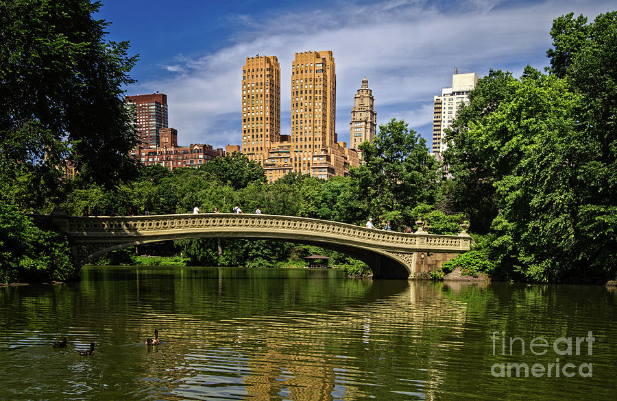 Bow Bridge in Central Park by Franz Zarda