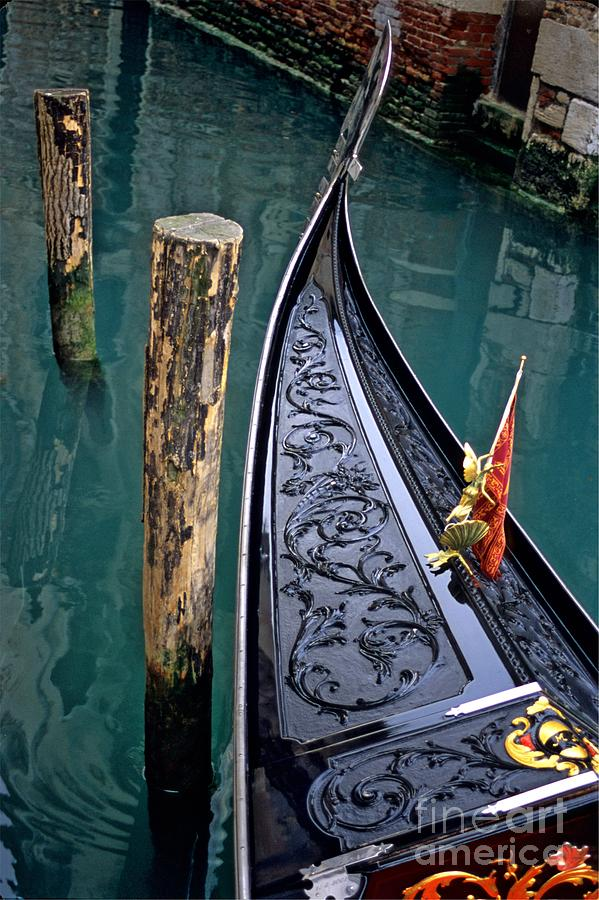 Italy Photograph - Bow Of Gondola In Venice by Michael Henderson
