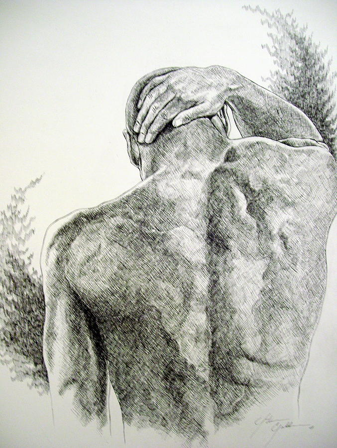 Bowed Drawing - Bowed But Unbroken by Otis  Cobb