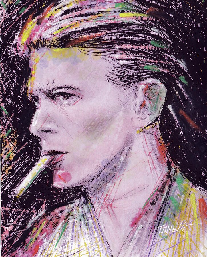David Bowie Golden Years Mixed Media