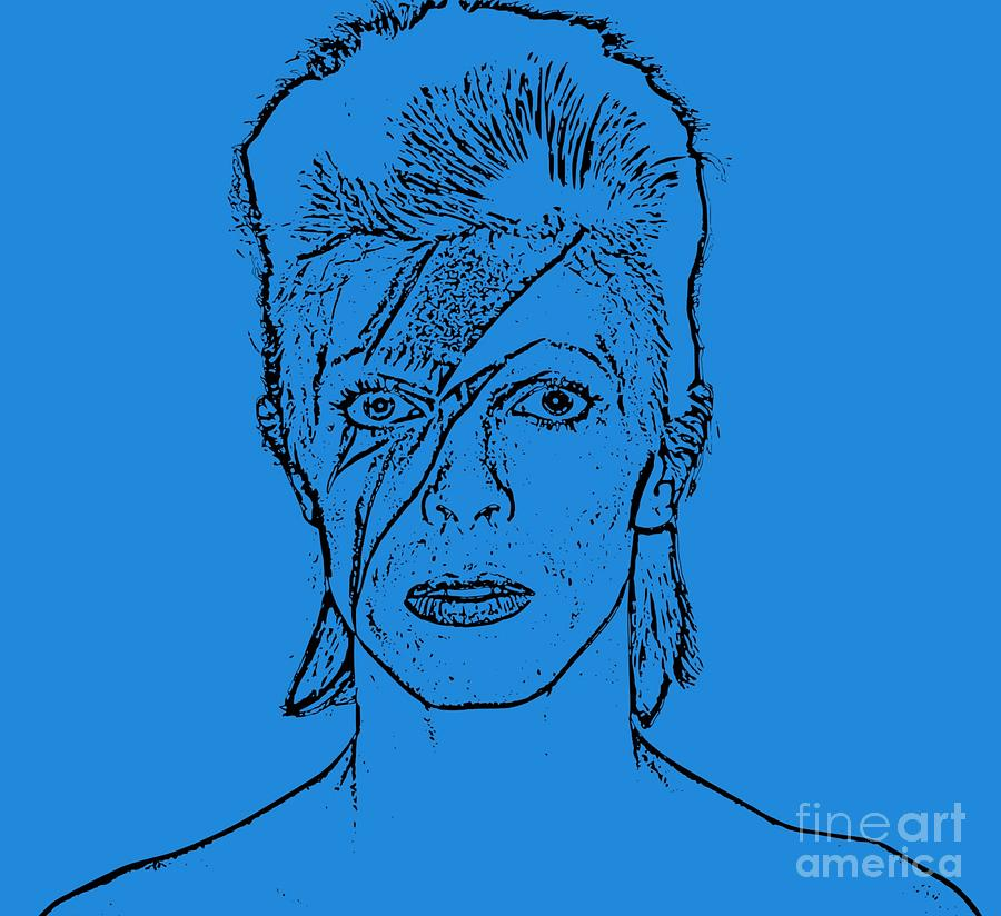 Bowie Drawing Drawing