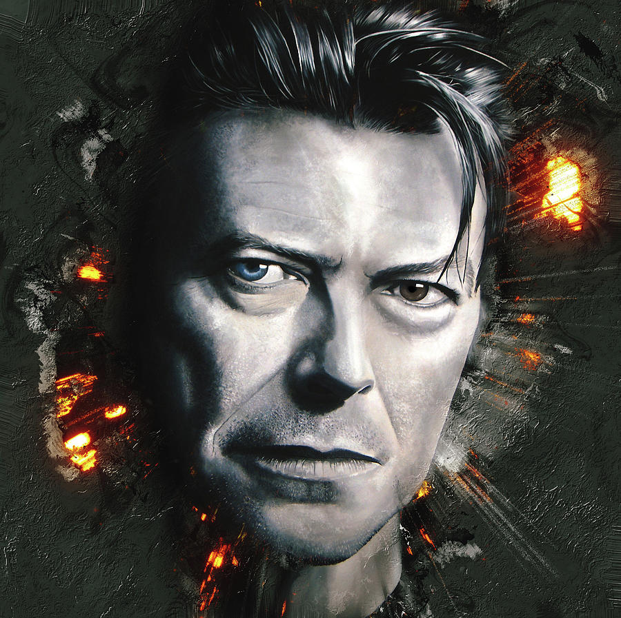 David Bowie Digital Art - Bowie by Shaun Poole