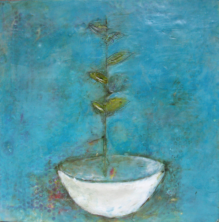Landscape Painting - Bowl 8 by Lynn Bregman-Blass