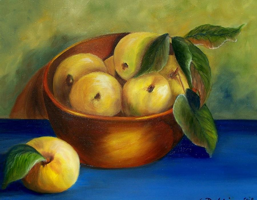 Bowl of Golden Delicious Apples by Susan Dehlinger