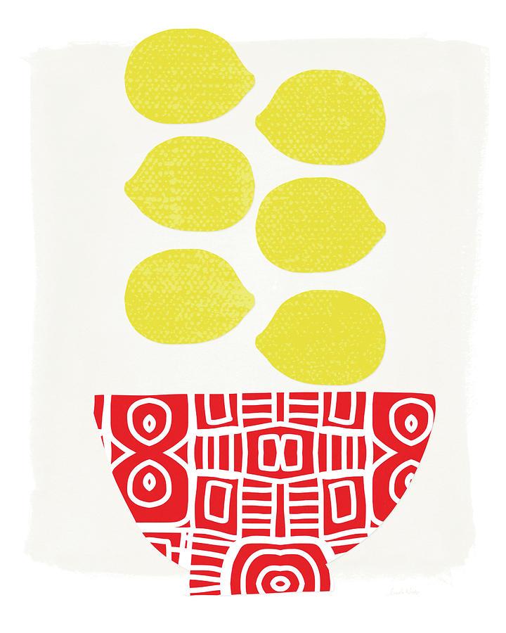 Lemons Painting - Bowl Of Lemons- Art By Linda Woods by Linda Woods