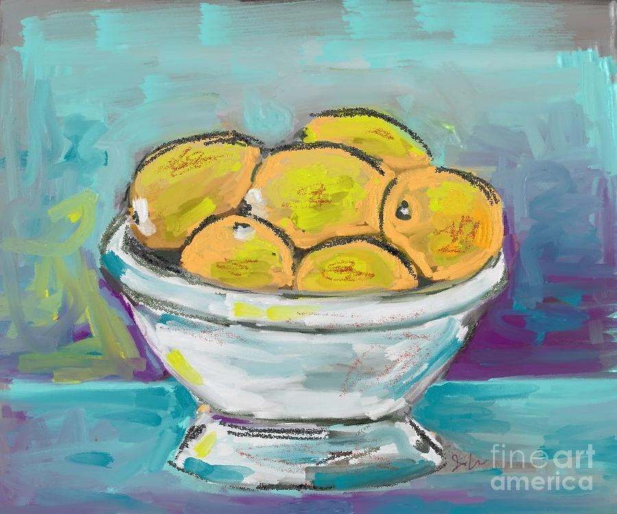 Bowl of Lemons by Jeanie Watson