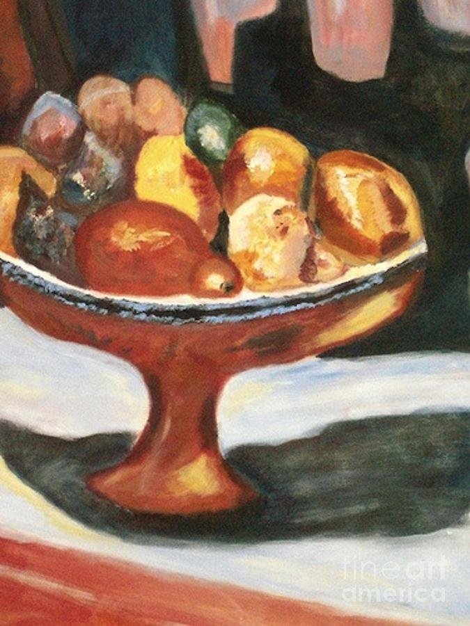 Fruitbowl Painting - Bowl Of Passion by Helena Bebirian