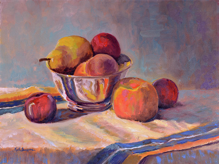Still Painting - Bowl With Fruit by Keith Burgess