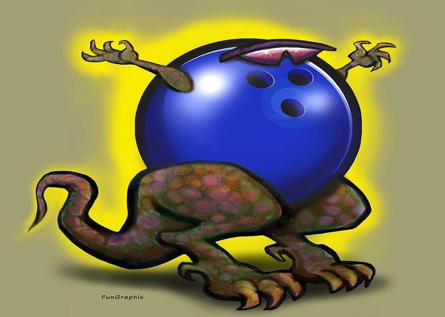Bowl Digital Art - Bowling Beast by Kevin Middleton