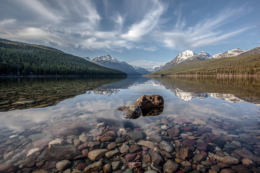 Bowman Lake Rocks by Aaron Aldrich