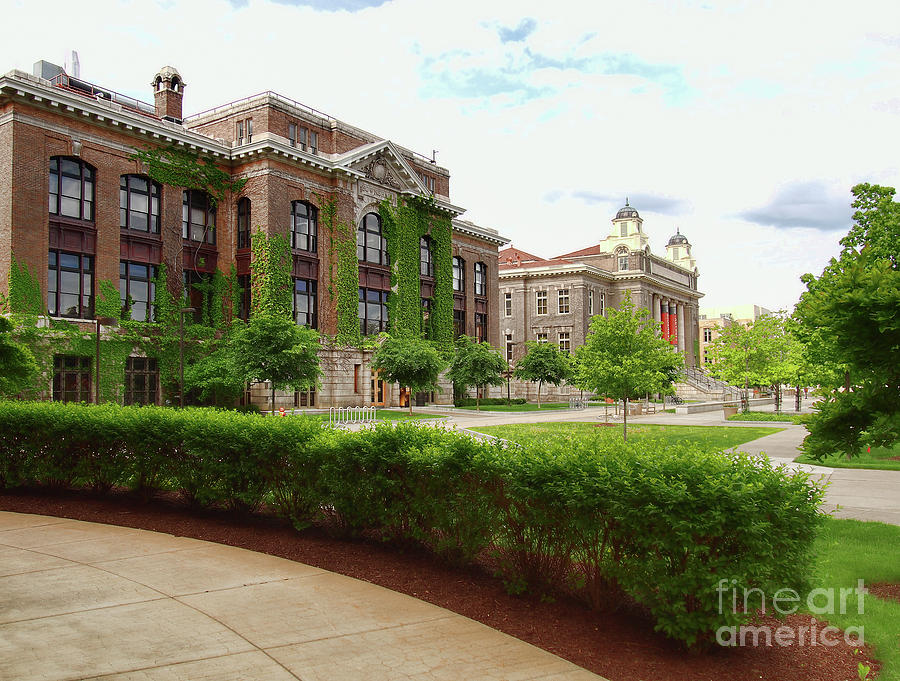 Syracuse Photograph - Bowne Hall by Debra Millet