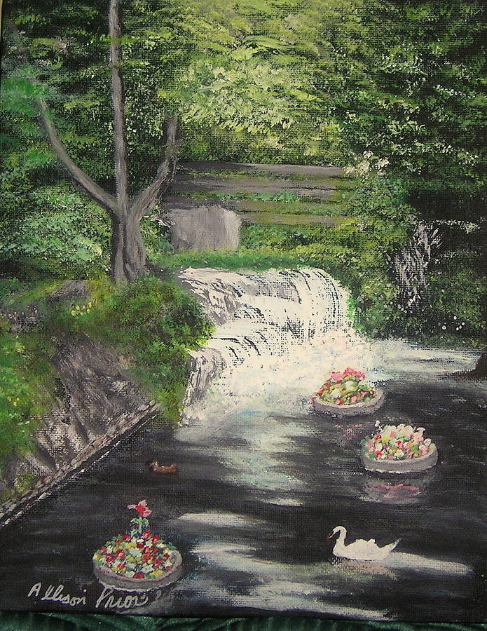 Oil Paintings Painting - Bowring Park Beauty by Allison Prior