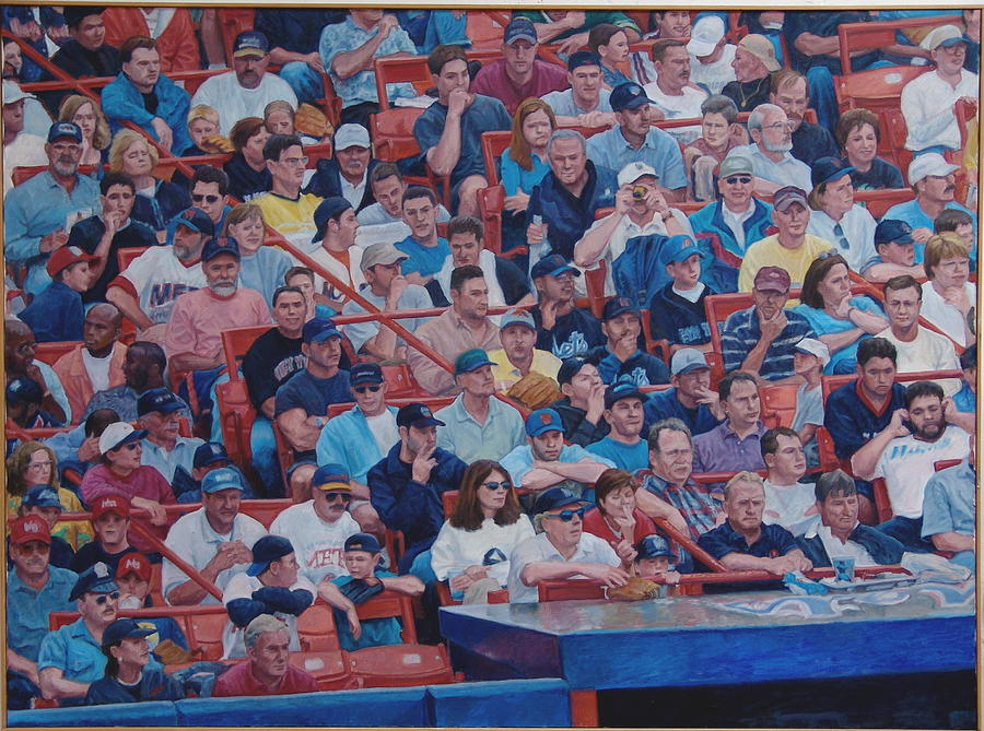 People Landscape Painting - Box Seats by James Sparks