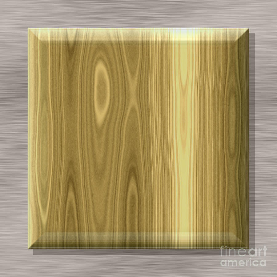 Box Shape Frame With Seamless Generated Texture Background Digital Art