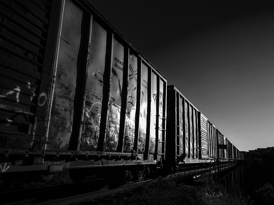 Train Photograph - Boxcar Sunrise by Bob Orsillo