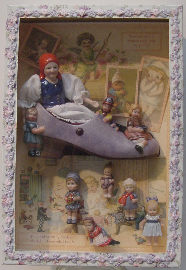 Antique Ceramic Art - Boxed-old Woman In Shoe by Shirley Heyn