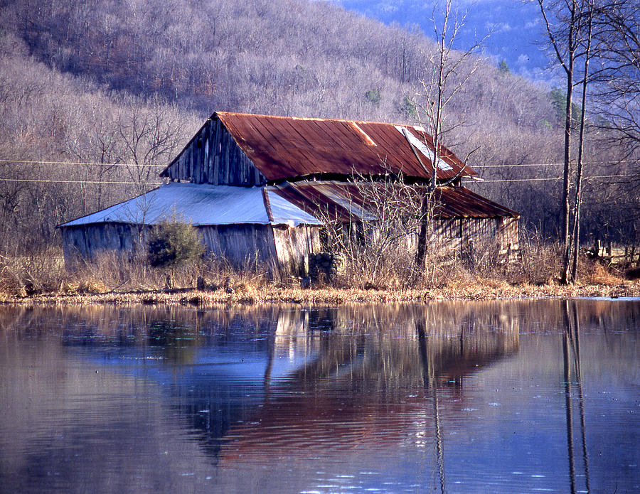 Boxely Barn Reflection Photograph by Curtis J Neeley Jr