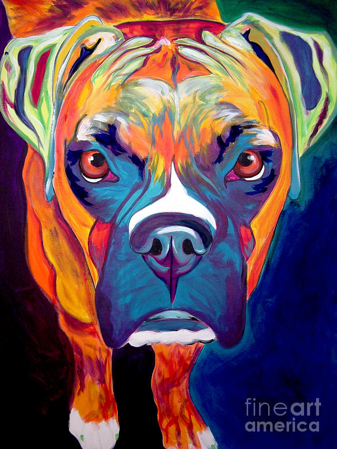 Boxer Painting - Boxer - Harley by Alicia VanNoy Call
