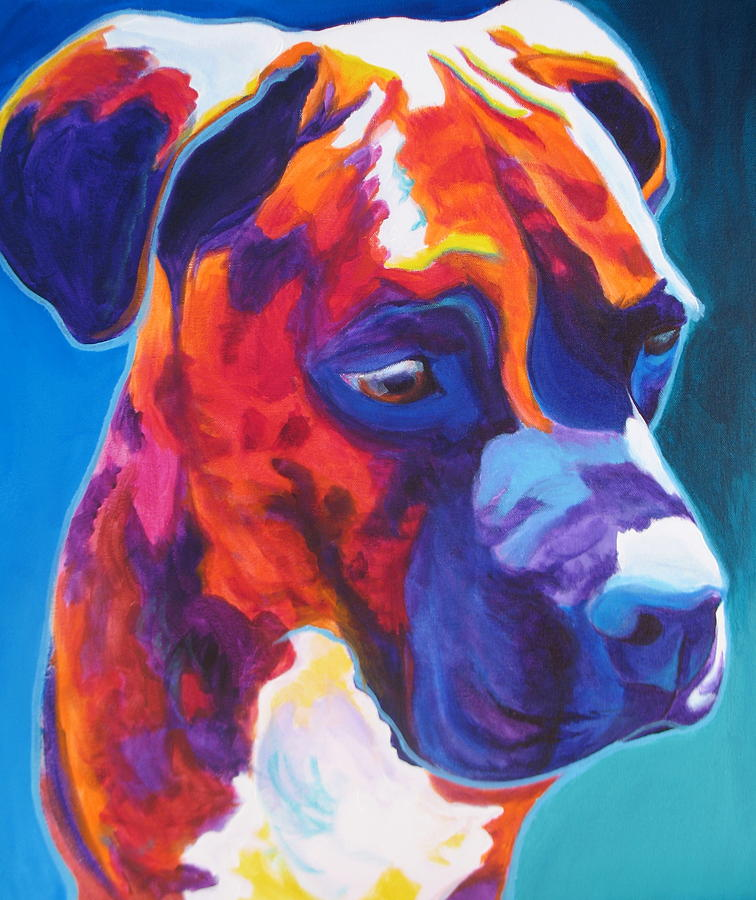 Dawgart Painting - Boxer - Jax by Alicia VanNoy Call
