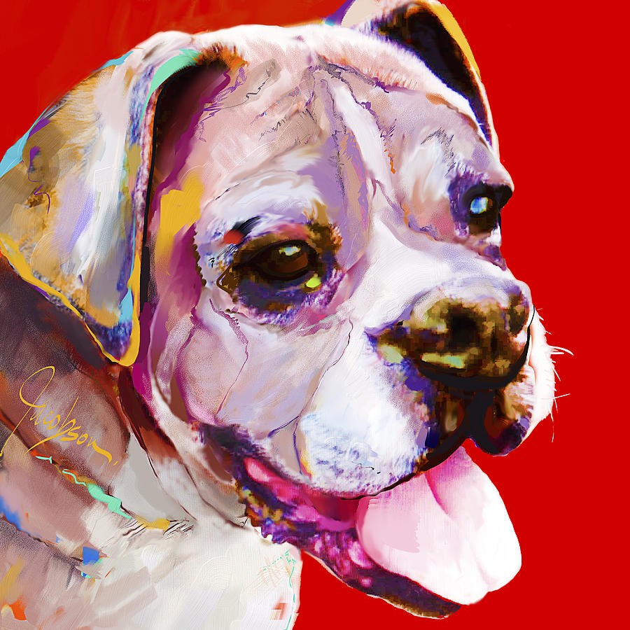 Boxer Painting - Boxer Dog  by Jackie Jacobson
