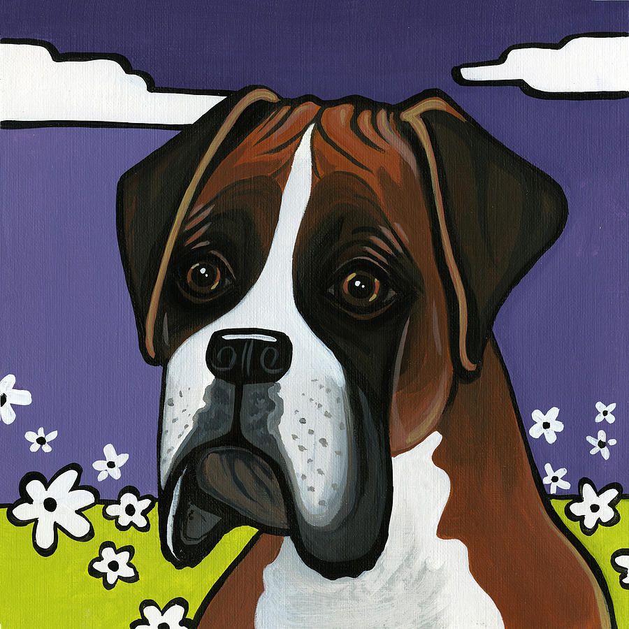 Boxer Painting - Boxer by Leanne Wilkes