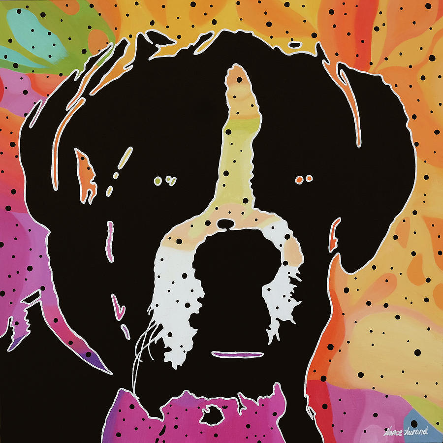 Dog Painting - Boxer by Nancy Aurand-Humpf