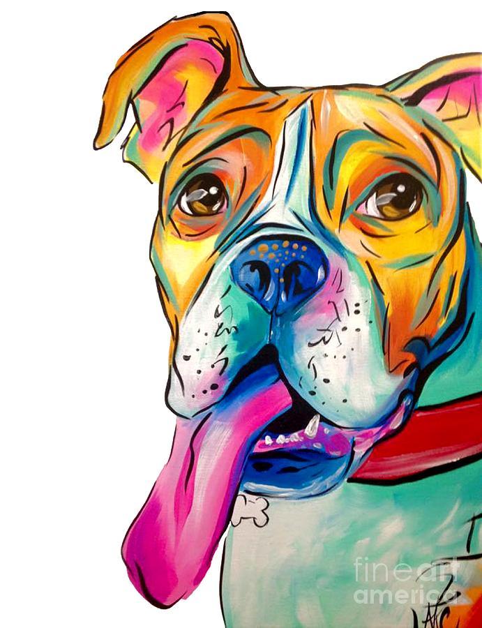 Dog Painting - Boxer Pup by Abbi Kay
