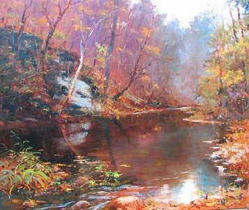 Boxley Creek Painting by Bill Garrison