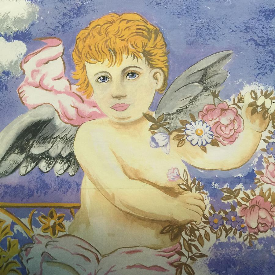 Cherub Painting by Bruce Cohose