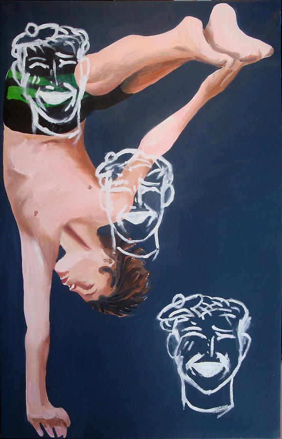 Trending Painting - Boy Diver With 3 Tam-o-shanters by Geoff Greene