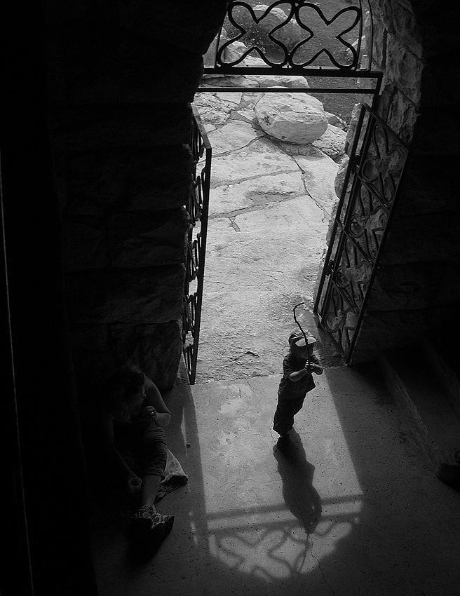 Boy Photograph - Boy Doorway by Michael Cohen