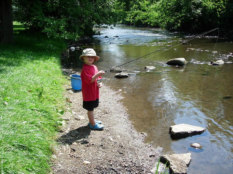 Boy Fishing Photograph by Andrea Kilbane