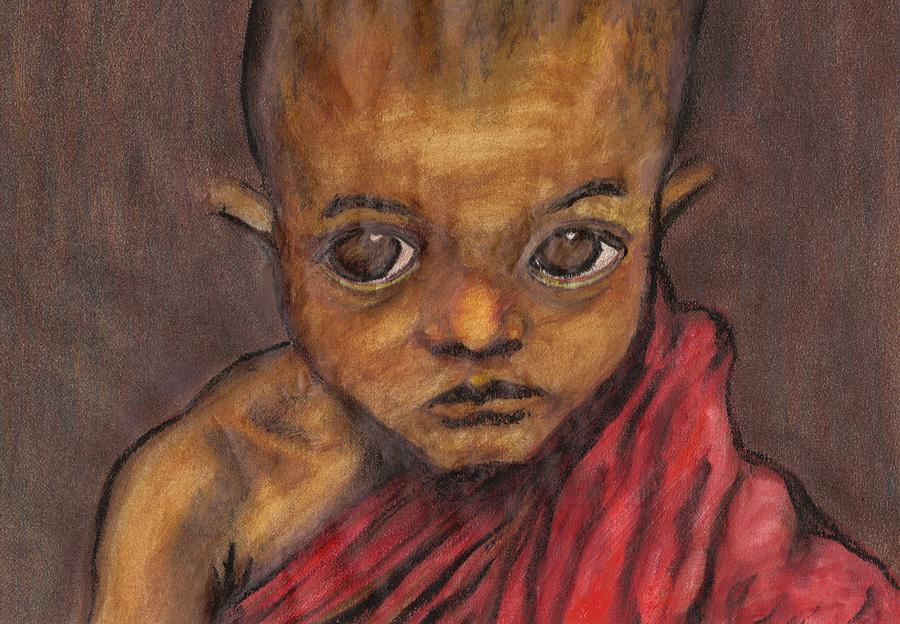 Boy Pastel - Boy In Burma by Jean Haynes