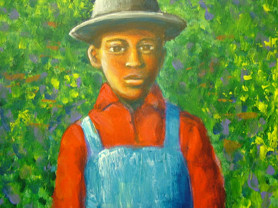 Painting Painting - boy In The Woods by Jan Gilmore