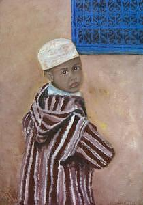 Children Painting - Boy Of The South Morocco by Ahmed Ait Addi
