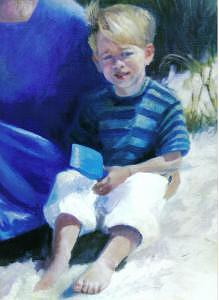 Portrait Painting - Boy On Cape Cod by John L Campbell