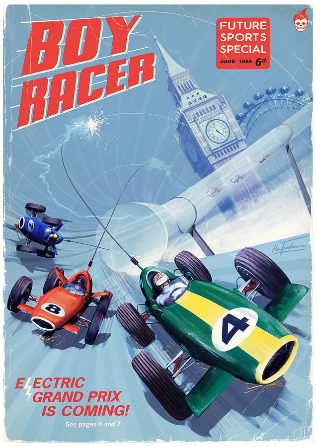 Eprix Digital Art - Boy Racer by Alex Tomlinson
